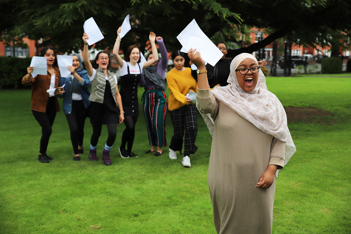 Students celebrate their fantastic results on GCSE Results Day 2019