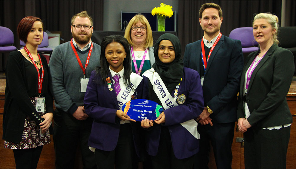 Sports Leaders UK present the Sports Leadership Academy Award to Whalley Range 11-18 High School